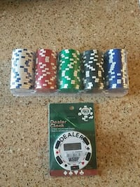 Poker chips and timer brand new