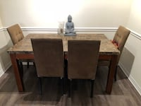 Marble table chairs coffee table and stand West Palm Beach, 33409