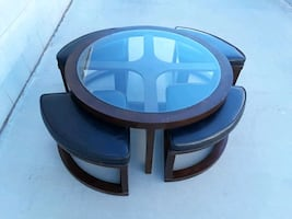 Awesome Table with Four Stools