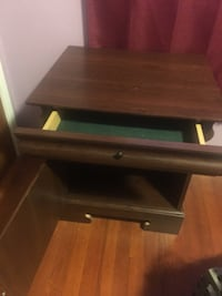 brown wooden single drawer side table Ellicott City, 21042