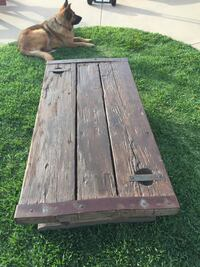 Navy ship deck wooden coffee table (inside or outside) Calimesa, 92320