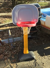 gray, red, and yellow Little Tikes basketball system Brookhaven, 11719