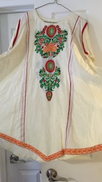 Front and back embroidery kurta