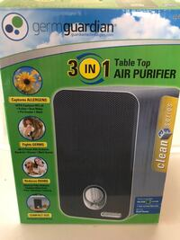 Tabletop air purifier brand new