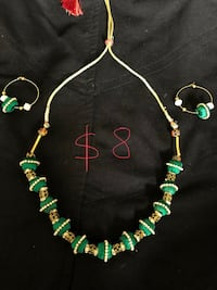 green and gold beaded necklace San Diego, 92115