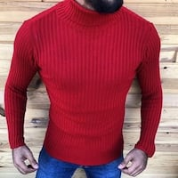 men's red crew-neck sweater Vaughan, L4L 5W2