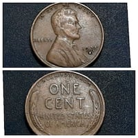 One Cent United States of America gold-colored coin collage Cleburne, 76031