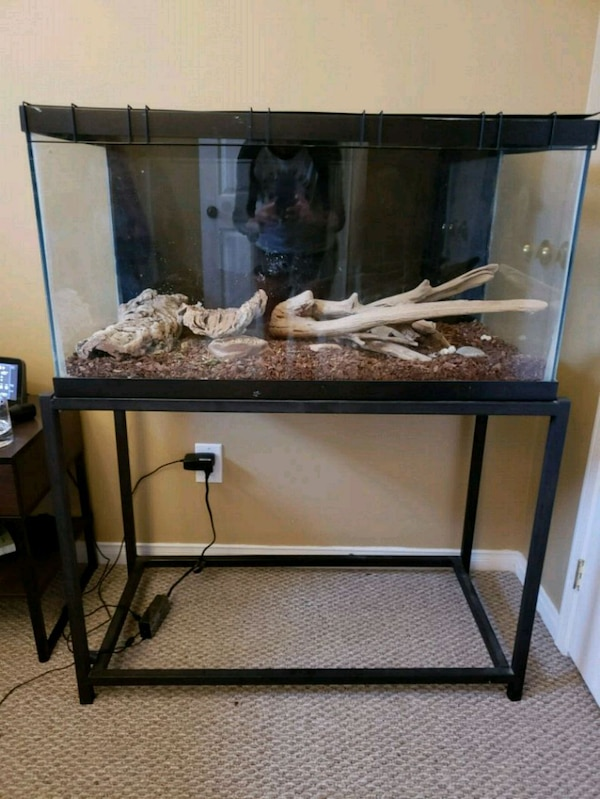 Used 55 Gallon Terrarium With Stand For Sale In Barrie Letgo