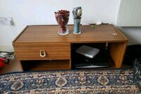 brown wooden coffee table with two black wooden tables Greater London, E1 4RX