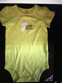 Carters green cat daddy says I'm purr-fect short sleeve bodysuit sz 18 month brand new New York, 10128
