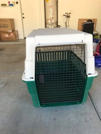 white and green pet carrier Glendale, 85308