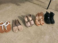 three pairs of assorted shoes Clarksville, 37042