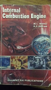 Internal Combustion Engine book by Mathur and Sharma New Delhi, 110092