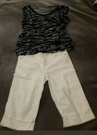 Lot with Faded Glory Sz 10 Capri and XL Blouse Dixon, 65459