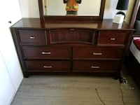 brown wooden dresser with mirror Edmonton, T6J 2X6