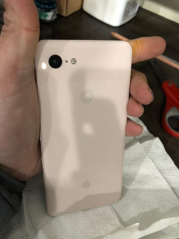 """google Pixel 3 xL phone  64 gig, brand new  Clean esn unlocked  Color is  called """"not pink"""" as it looks like off white with a pinkish tone"""