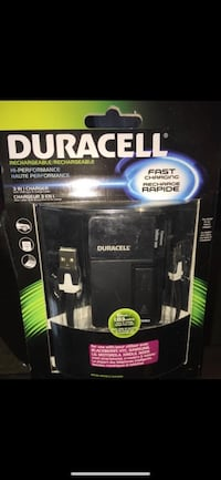Duracell Rechargeable high performance 3 in 1 charger*BNIP* Richmond, V7E 6S2