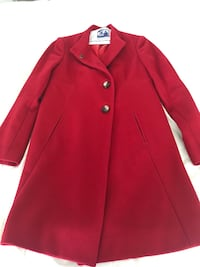 United colors of Benetton - red Woolen coat, European collection Toronto, M5S 3M4