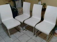 two white-and-black chairs Mississauga, L4W 3J7