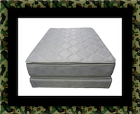 Pillow top mattress with box all size Herndon, 20171