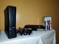 black Xbox 360 console with controller and game ca Sudbury, P3G 0A3
