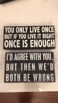 Two black and white quote boards Morgantown, 26508
