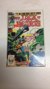 Marvel 1983 the jack of hearts #2