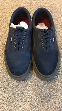 Van's Blue Suede Sneakers Size 11.0. Great shape. You Impressive look