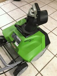 Green works electric snow thrower Elizabeth, 15037