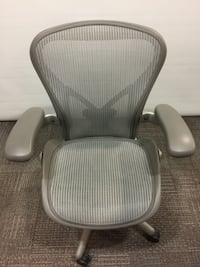 Computer Chair - Herman Miller Aeron Fully Loaded in Silver and Black - Ergonomic Markham