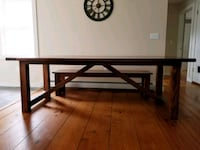 Beautiful handmade farmhouse dining table & bench Saratoga Springs, 12866