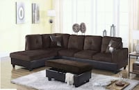 black and gray sectional sofa Austin
