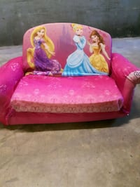 Child's princess flip out couch