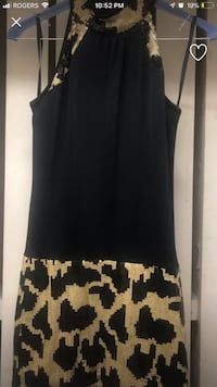 Animal print sequence dress small - robe a paillette small