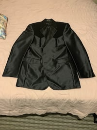 Men's Full Black New Circle S Suit
