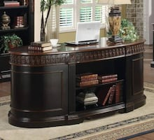 Nicolas Oval Executive Double Pedestal Desk 800921