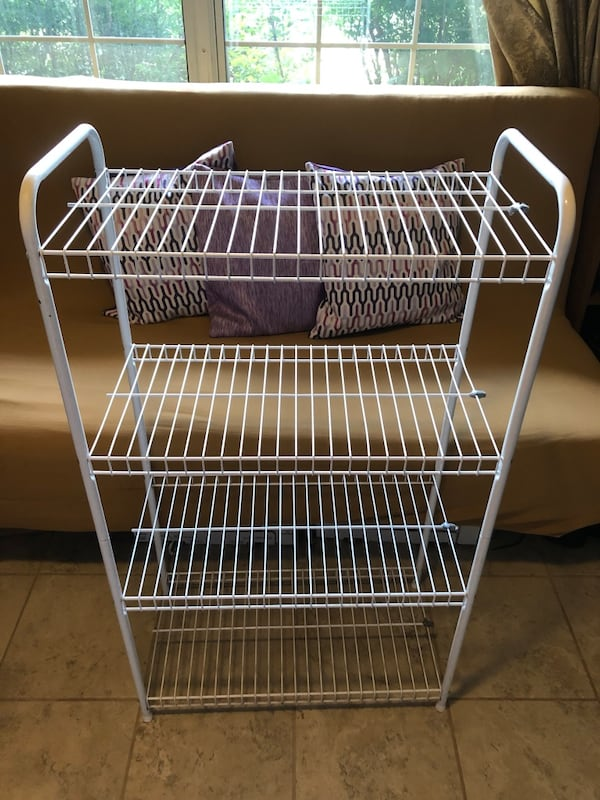 Metal wire shelf white f3c17e2a-7fac-457b-b0d3-5a7d6c8f672c