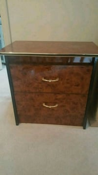 2 brown and black nightstands and headboard Toronto, M1X 1W3