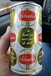 Very old Schaefer beer can very good condition top Voorhees Township, 08043