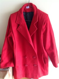 Red Car coat style winter Coat  Brantford, N3P