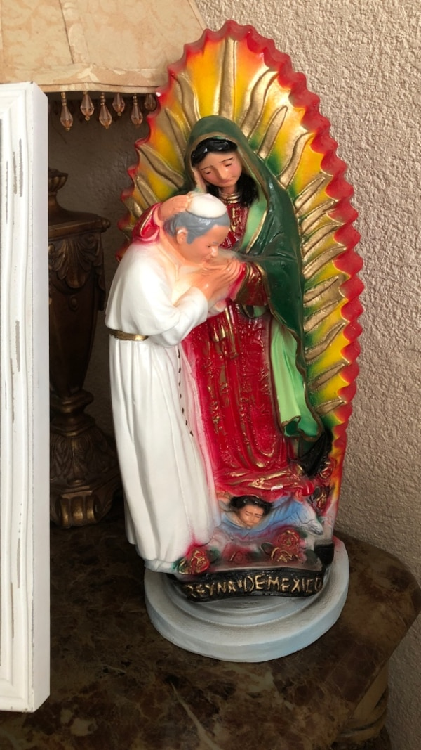 Virgin Mary with Pope