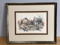 Vintage Litho print, framed and matted Whitby, L1N 5Y4