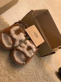 New UGG Chestnut Toddler Fur Slipper Upper Marlboro, 20774