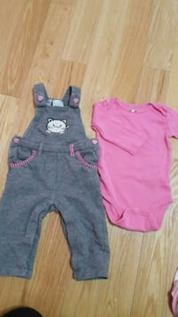 toddler's pink and gray onesie Milton, L9T 7T8