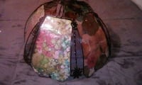 brown stained glass floral lamp shade Gardena, 90248