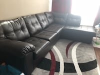 Chocolate Brown leather couch sectional  Mississauga, L4Y 2N5