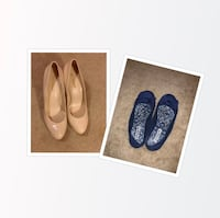 pair of blue leather flats Stafford, 22556
