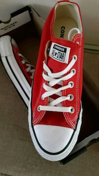pair of red Converse All Star low top sneakers Bellevue, 68123