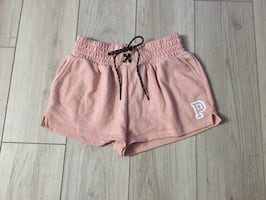 Pink lace up shorts