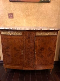 Antique Burl wood and marble cabinet Georgetown, 78628